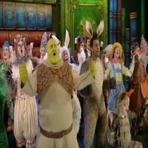 Shrek the musical whole cast ensemble singing
