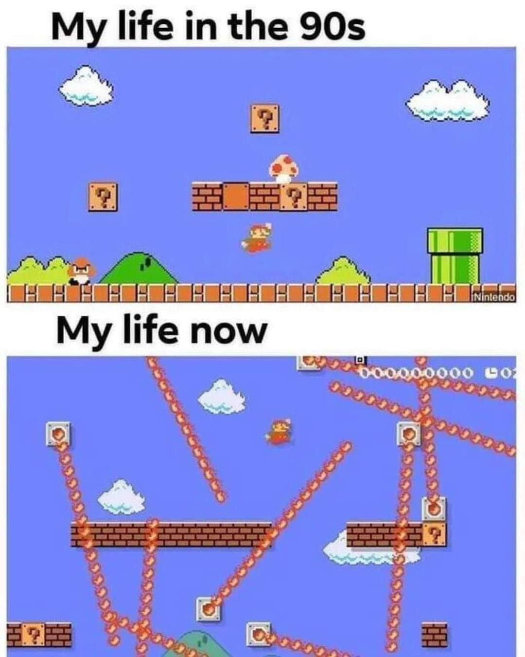Memes Life as super Mario brothers