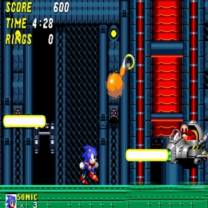 Sonic and tails vs Flying Eggman Sonic the Hedgehog 2 Sega genesis Sega mega drive
