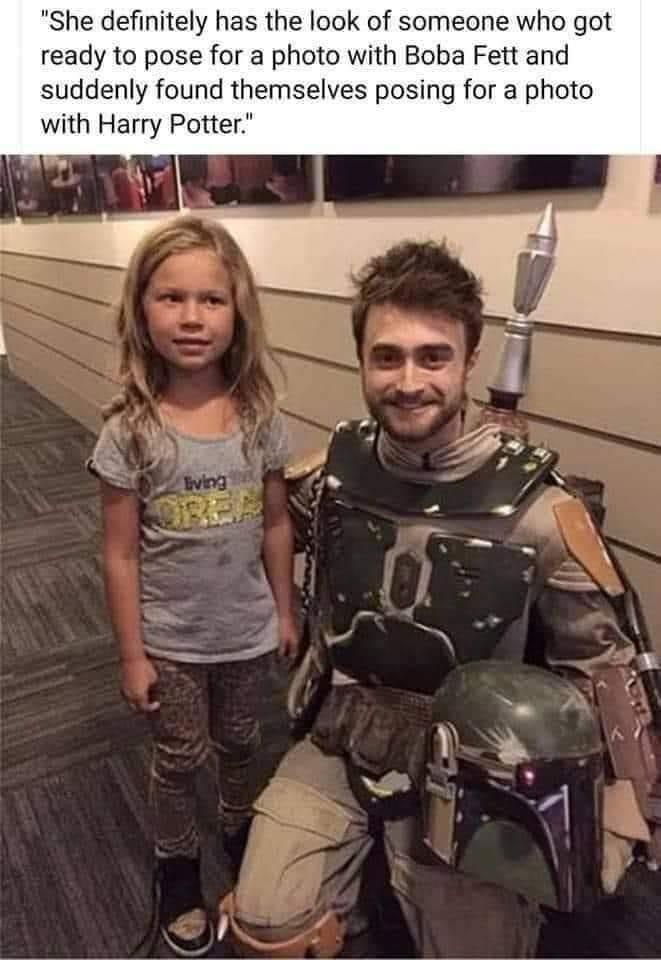 Memes Daniel Radcliffe Boba Fett cosplay Star Wars harry potter