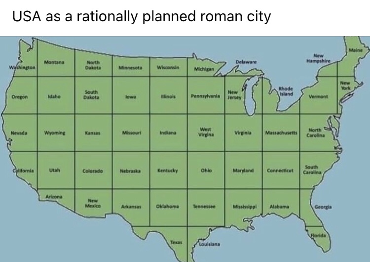 Memes United States of America map states divided equally