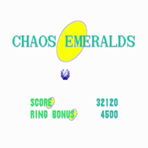 Sonic the Hedgehog 1 blue chaos emerald Sega genesis Sega mega drive