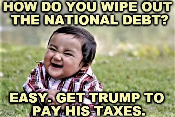 Memes Donald Trump paying taxes wiping out national debt