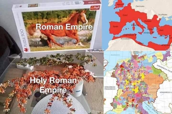 Memes Roman empire versus the holy Roman empire