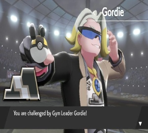 Pokemon sword Gordie gym leader Ultra Ball Nintendo switch Game Freak Circhester Stadium