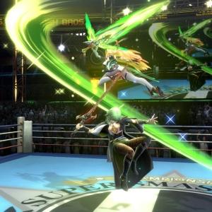 Mythra vs female Byleth super Smash Bros ultimate Nintendo Switch boxing ring