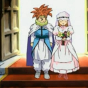 Chrono Trigger crono and marle get married snes PS1 Nintendo ds
