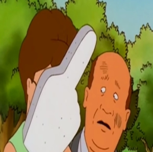 King of the Hill bill Dauterive and Peggy Hill fox