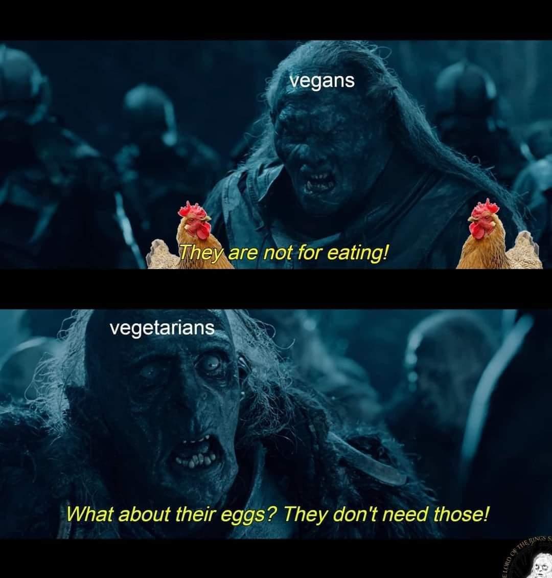 Memes Vegan versus vegetarian