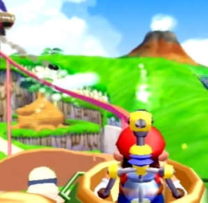 Roller coaster ride Mecha Bowser Super Mario Sunshine Nintendo GameCube