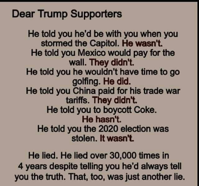 Memes Donald Trump lying