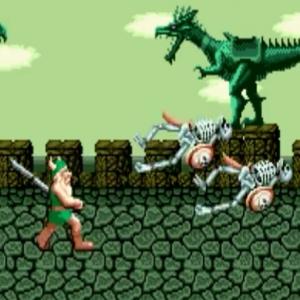 Gilius Thunderhead vs skeletons golden axe Sega genesis arcade Sega mega drive