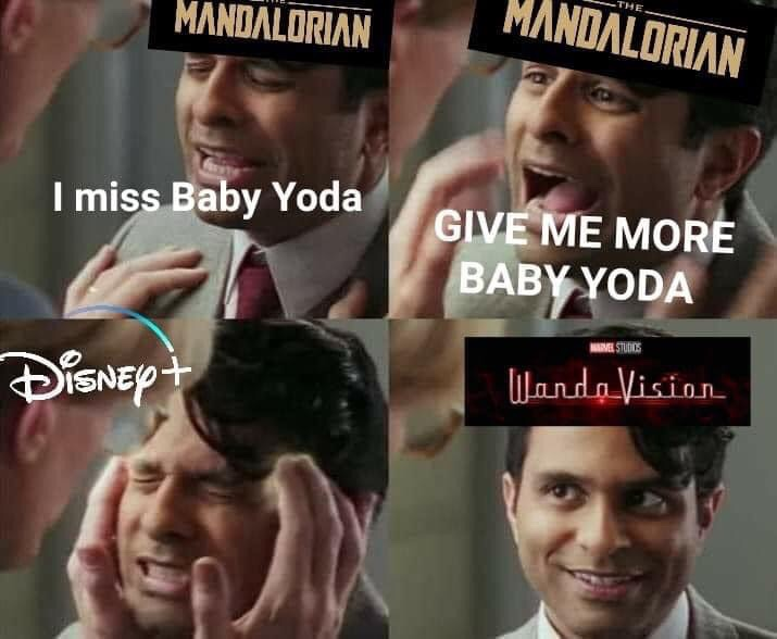 Memes Disney+ the Mandalorian WandaVision
