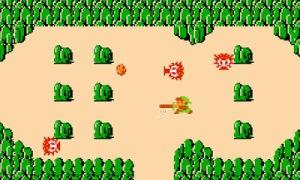 Link vs octoroks the Legend of Zelda 1 nes Nintendo