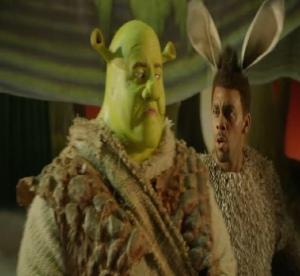 Shrek the musical Shrek the ogre with donkey