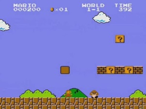 Mario vs first goomba super Mario Bros nes Nintendo