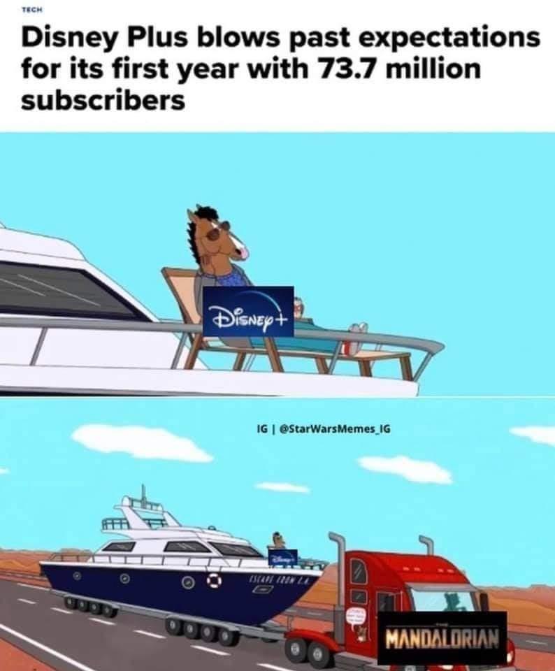 Memes Disney+ the Mandalorian