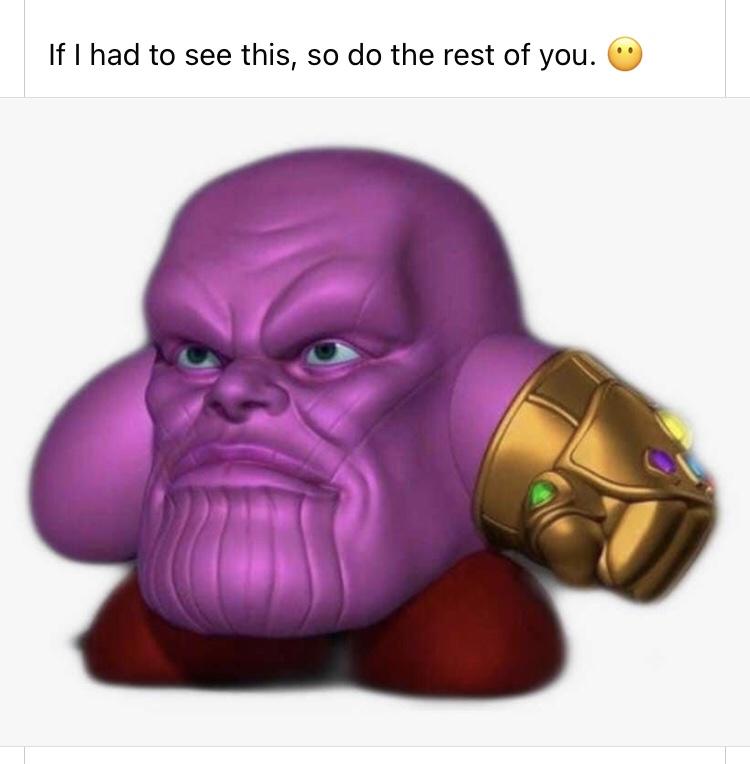 Memes Kirby Nintendo Thanos marvel