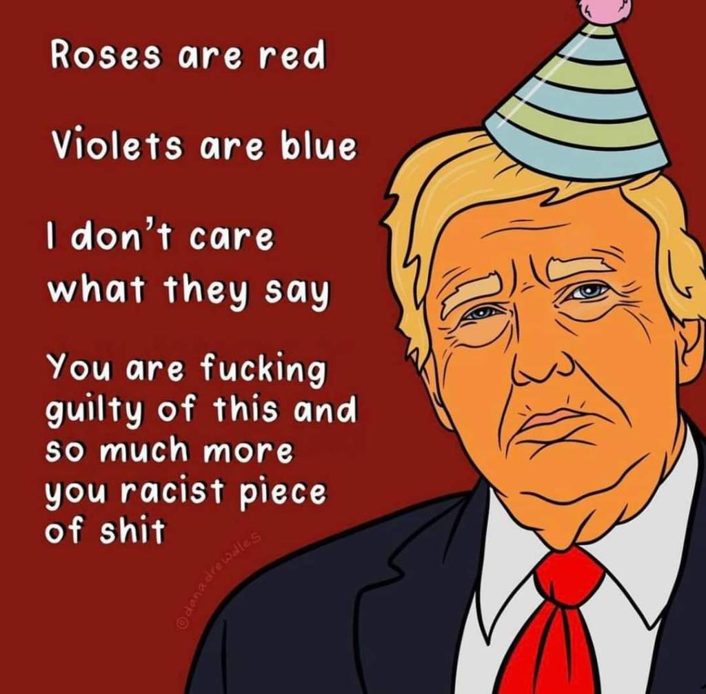 Memes Donald Trump is guilty roses are red violets are blue