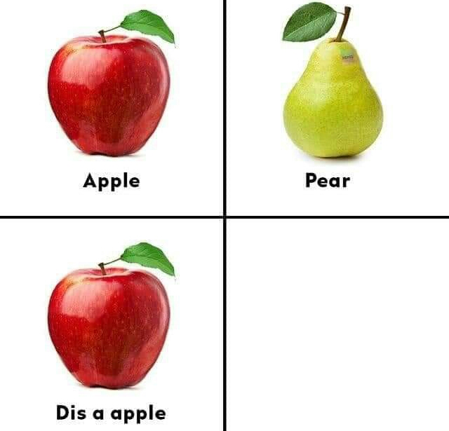 Memes Apples and pears