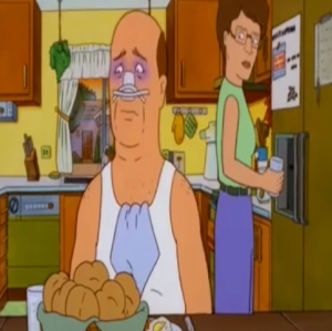 King of the Hill Peggy Hill cooks for bill Dauterive