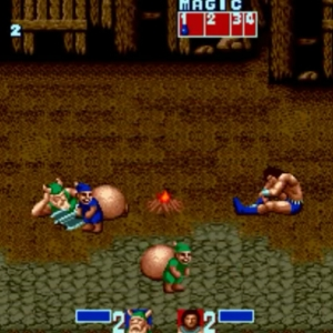 Blue Thief green Thief bonus round golden axe Sega genesis arcade