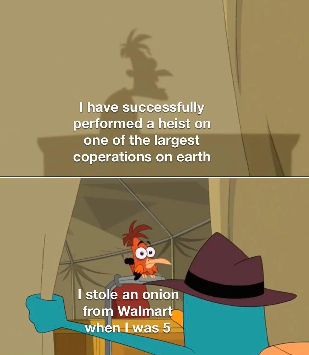 Memes  Taking in an onion from Walmart