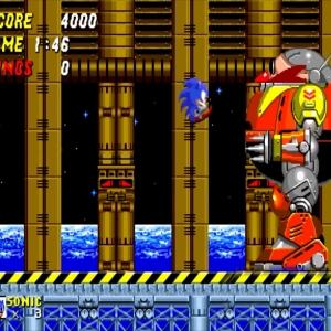 Sonic vs Death Egg Sonic the Hedgehog 2 Sega genesis Sega mega drive
