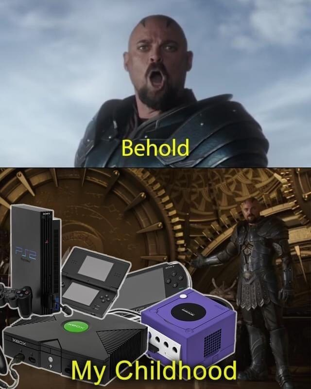 Memes Nintendo game cube  Microsoft Xbox PlayStation to PST Nintendo DSPSP