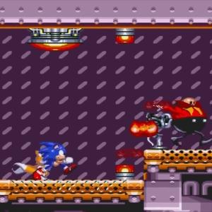 Barrier Eggman Dr robotnik running away sonic & Knuckles Sega Genesis Sega Mega drive