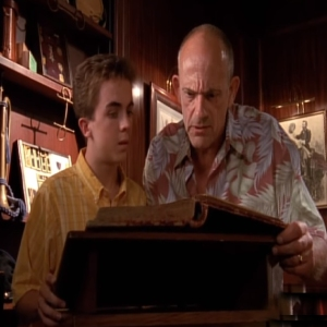 Malcolm and his wealthy grandfather Malcolm in the middle Christopher Lloyd Frankie Muniz
