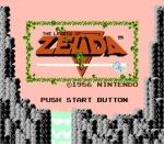 Start screen the Legend of Zelda NES NINTENDO