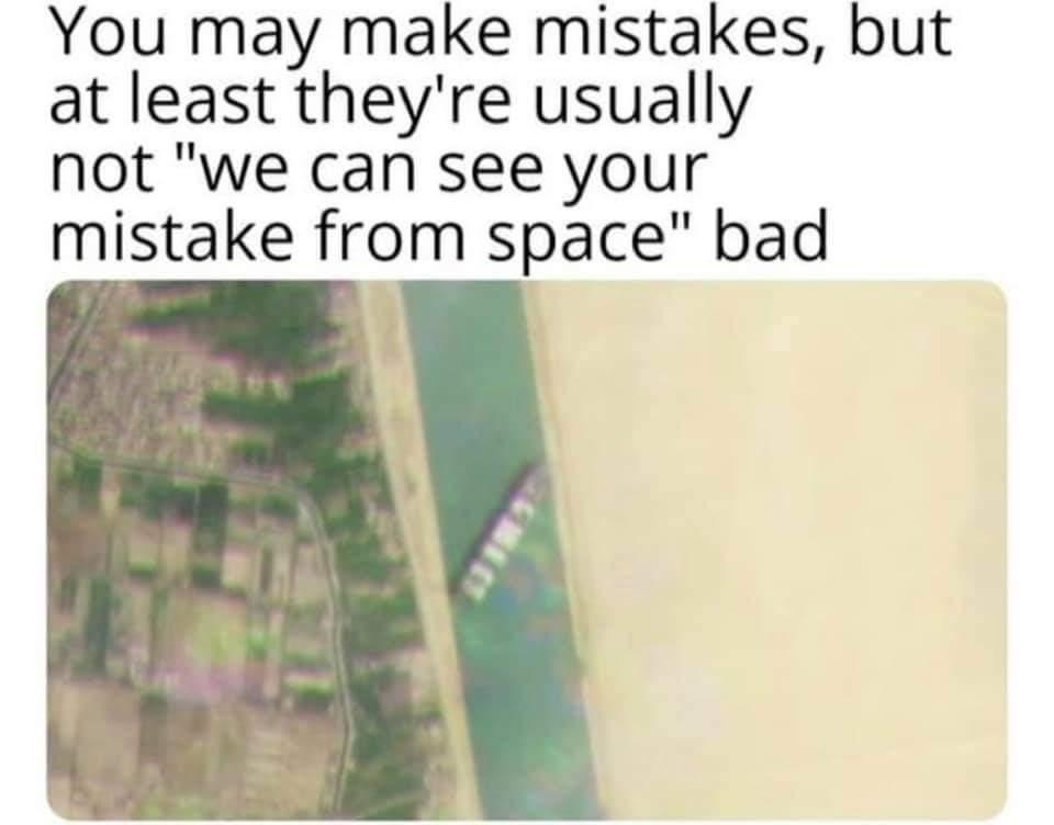 Memes Stuck ship Suez canal
