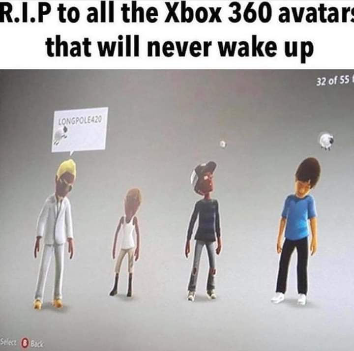 Memes Xbox 360 avatars