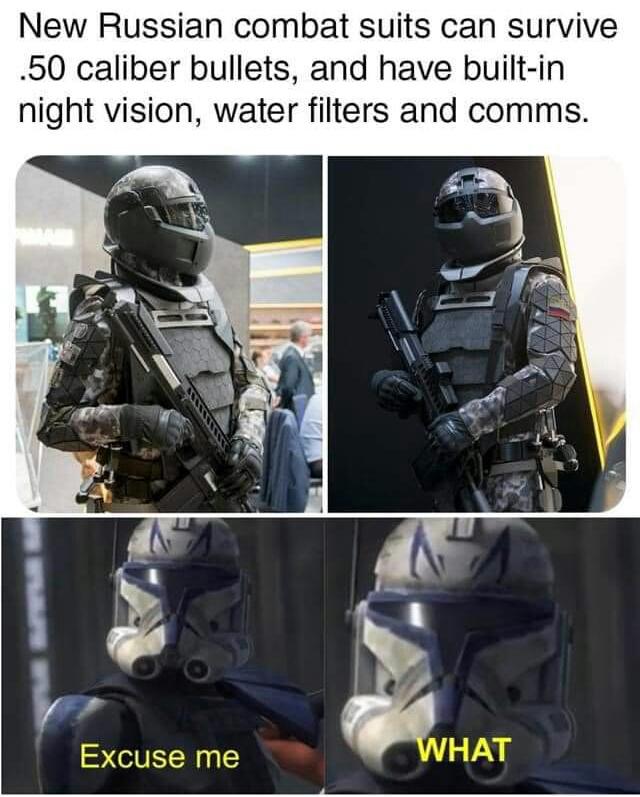 Memes Bulletproof combat suits Russia