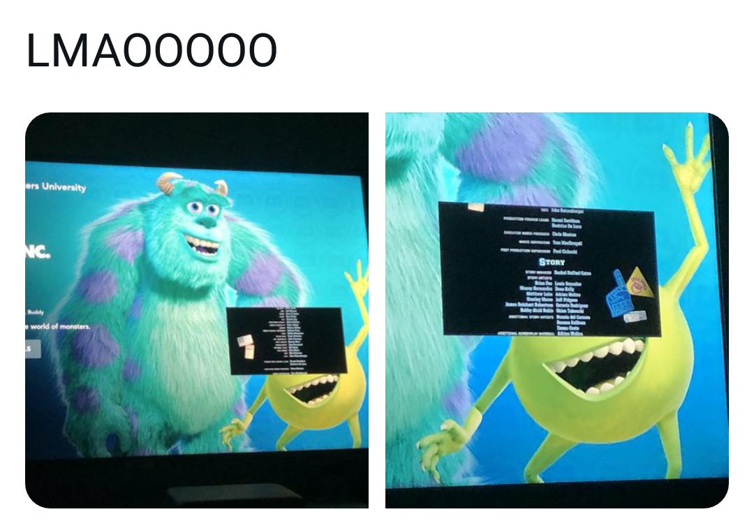 Memes Monsters Inc. Mike Disney+