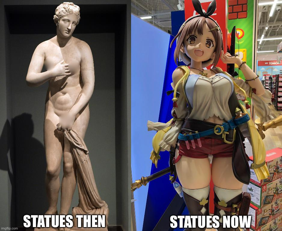 Memes Anime statues