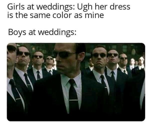 Memes Boys at weddings