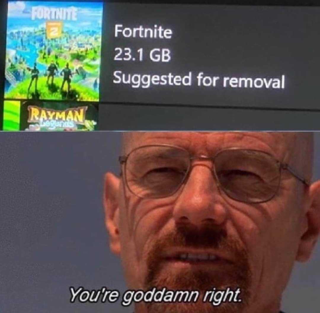 Video game Memes fortnite suggested for removal