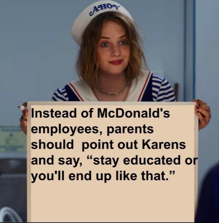 Memes McDonald's and Karen