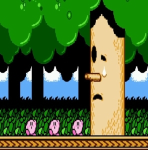 Kirby defeats whispy Woods Kirby's Adventure NES Nintendo