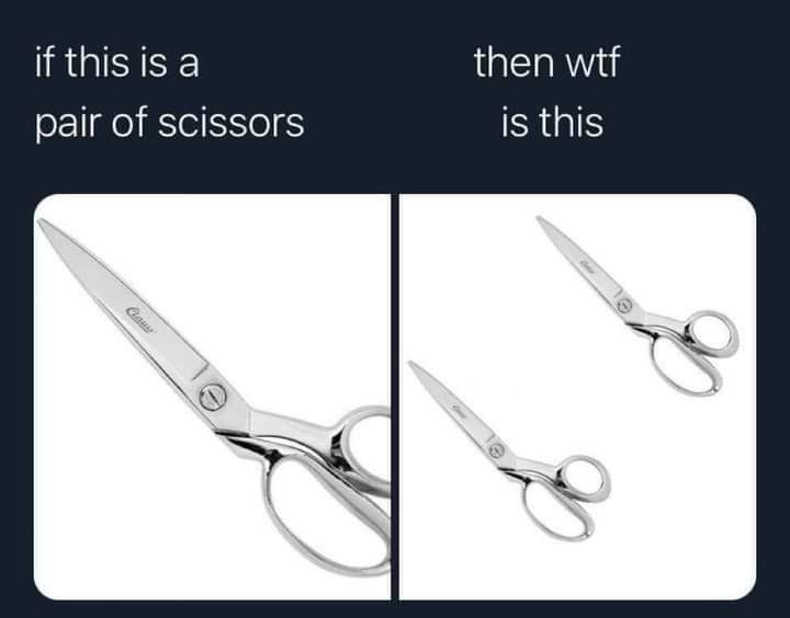Memes What do you call multiple pairs of scissors