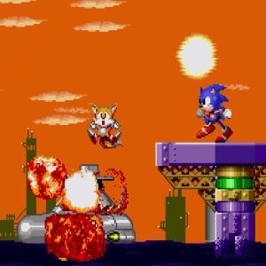Submarine Eggman II Defeated Sonic the Hedgehog 2 Sega genesis Sega mega drive