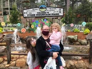Family at stone mountain park Georgia