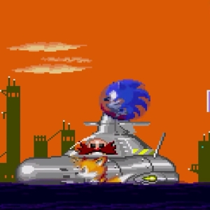 Submarine Eggman II Sonic the Hedgehog 2 Sega genesis Sega mega drive