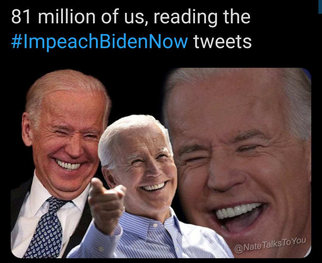 Memes People who want to impeach Joe Biden