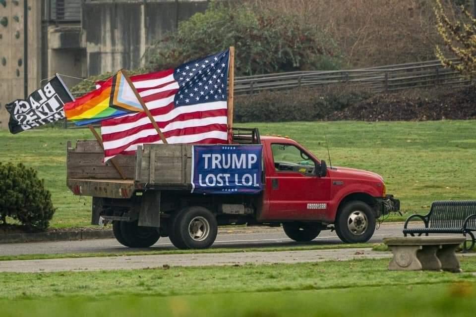 Memes Trump lost LOL truck