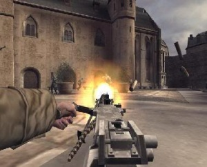 Gatling gun Call of Duty Finest Hour Xbox ps2 gamecube