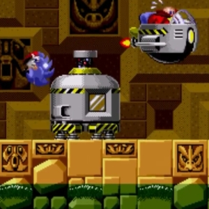 Dr Eggman flies away Labyrinth Zone boss sonic the Hedgehog 1 Sega genesis Sega mega drive