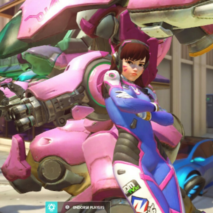 D. VA OverWatch blue suit Nintendo switch Xbox One PlayStation 4 PS4
